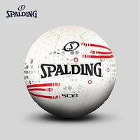 Original Spalding Sc10 Series White red Hot Bonded Football Ball Soccer Ball Assembly Pu 64 938Y