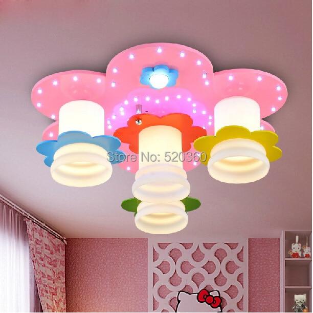 Novelty flower shape ceiling light princess ceiling lamp modern novelty flower shape ceiling light princess ceiling lamp modern children room ceiling light mozeypictures Images
