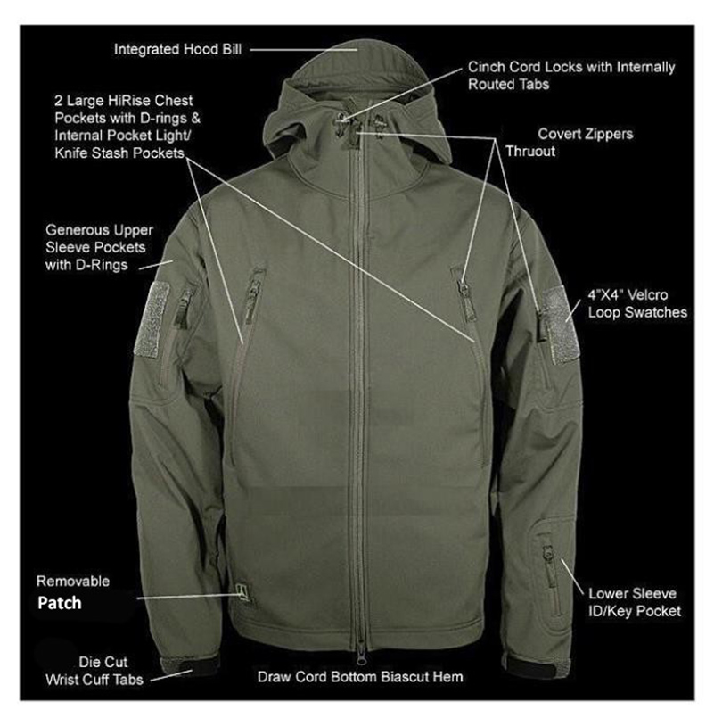 Aliexpress.com : Buy V4.0 Waterproof Soft Shell Tactical Jacket ...
