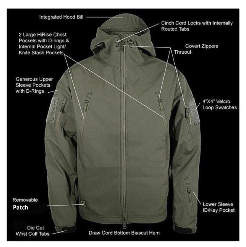 V4.0 imperméable à l'eau doux Shell veste tactique en plein air chasse Sports armée SWAT militaire formation coupe-vent manteau d'extérieur vêtements - 2