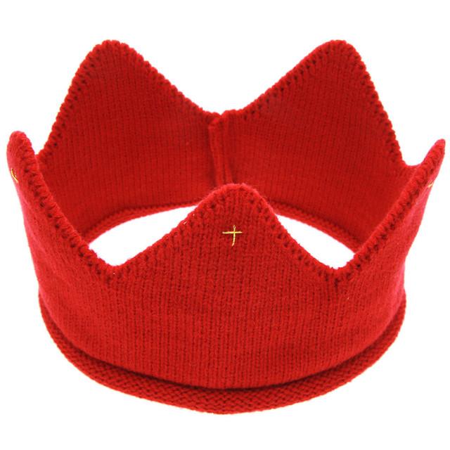 Hot and nice design Woolen Yarn Cute Baby Boys Girls Crown Knit Headband Hathair accessories hat tiaras infantil MUQGEW BABY