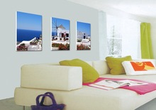3 Pieces/set Beautiful sea view Wall Art Pictures for Home Decoration abstract Painting Print on Canvas  Frame art-060