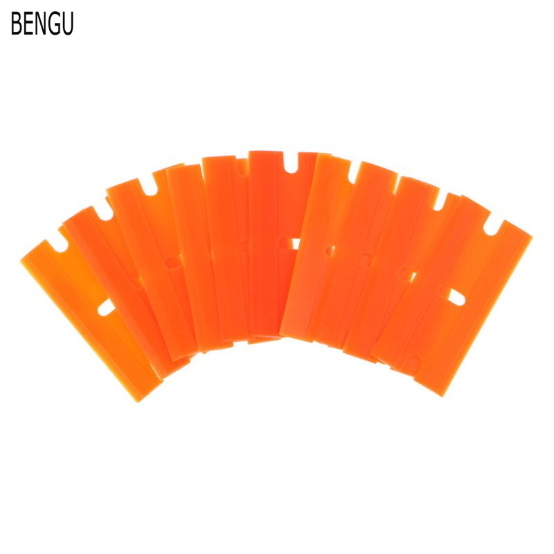 100pcs Double Edged Blade Auto Glass Cleaning Razor Scraper Foil Film Wrapping Squeegee Vinyl Car Wrap Sticker Accessories