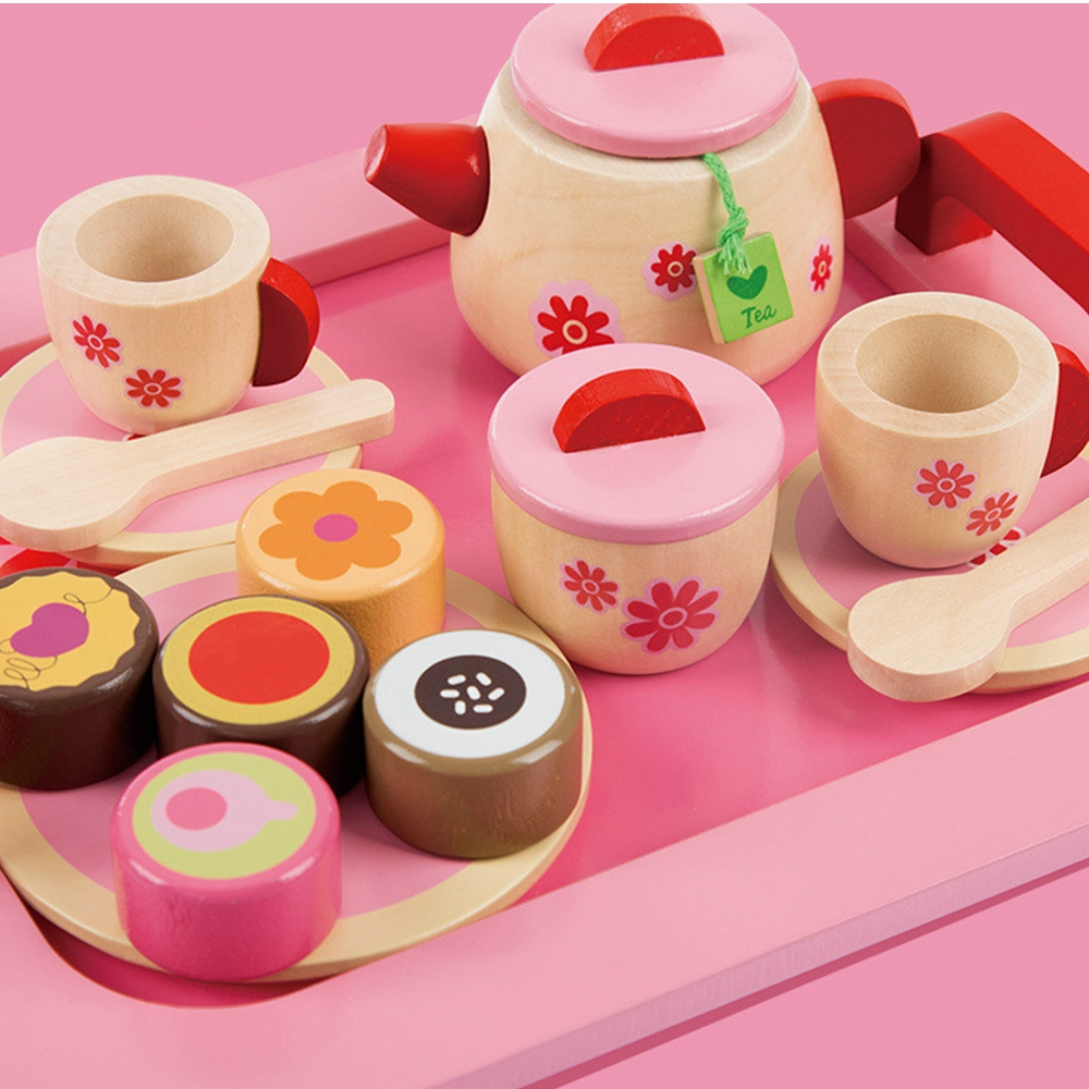 Tea Set Toy Us 24 44 5 Off New Cute Pink Toy Set Pretend Play Kitchen Toy Simulation Tea Set Cake Bread Afternoon Tea Toys Birthday Present Gift For Girls In