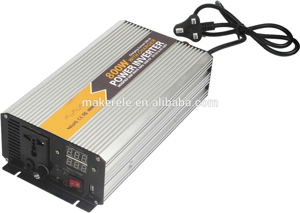 ФОТО MKM800-121G-C modified sine wave off grid 800watt 12vdc to 110vac rich electric inverter microtek inverter with charger