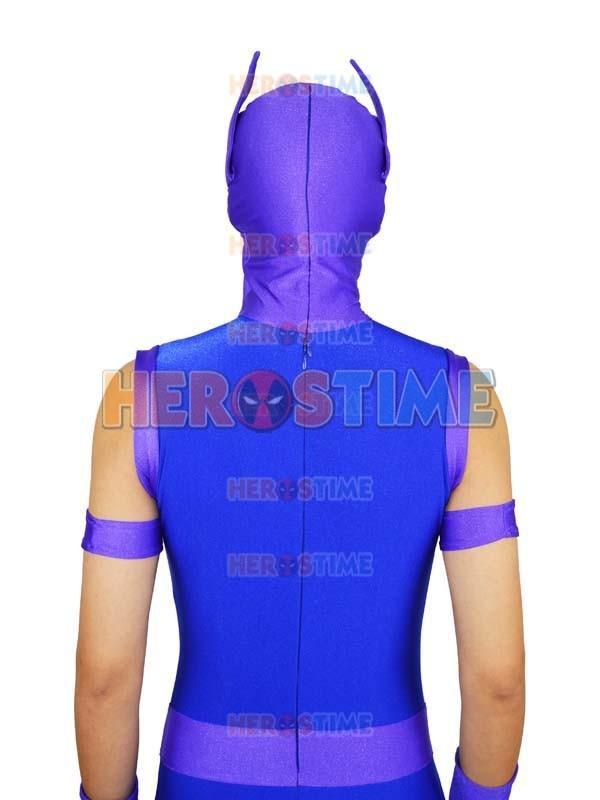 Avengers Hawkeye Costume Spandex Purple & Blue Avengers Hawkeye - Կարնավալային հագուստները - Լուսանկար 5