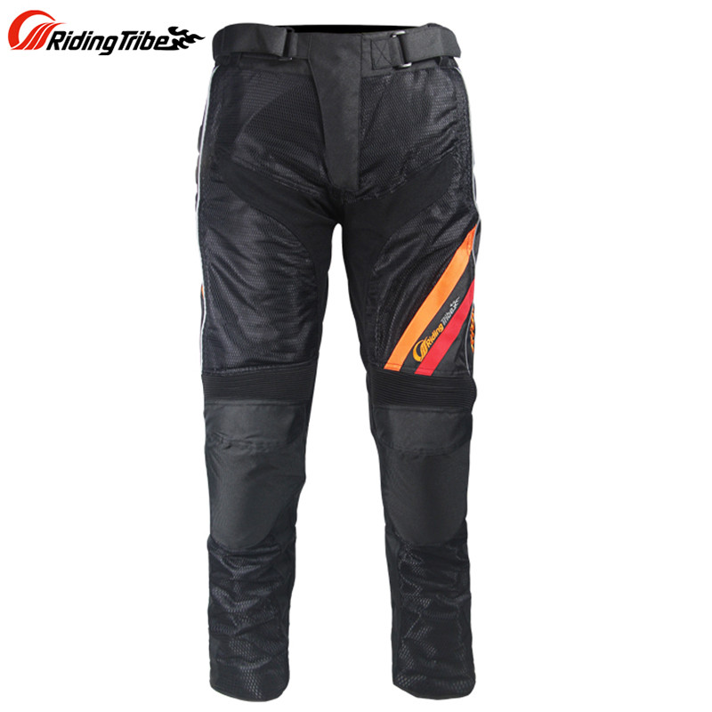 Men s Motorcycle summer Pants Moto Pantalon Trousers HP10 Racing Pants with 2pcs Protective gear Knee