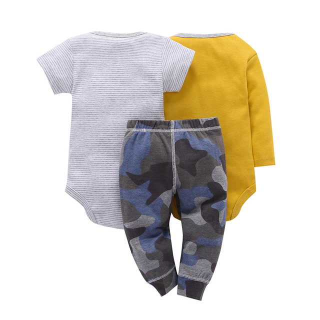 Children brand Body Suits 3PCS Infant Body Cute Cotton Fleece Clothing Baby Boy Girl Bodysuits 2018 New Arrival free shippin 1