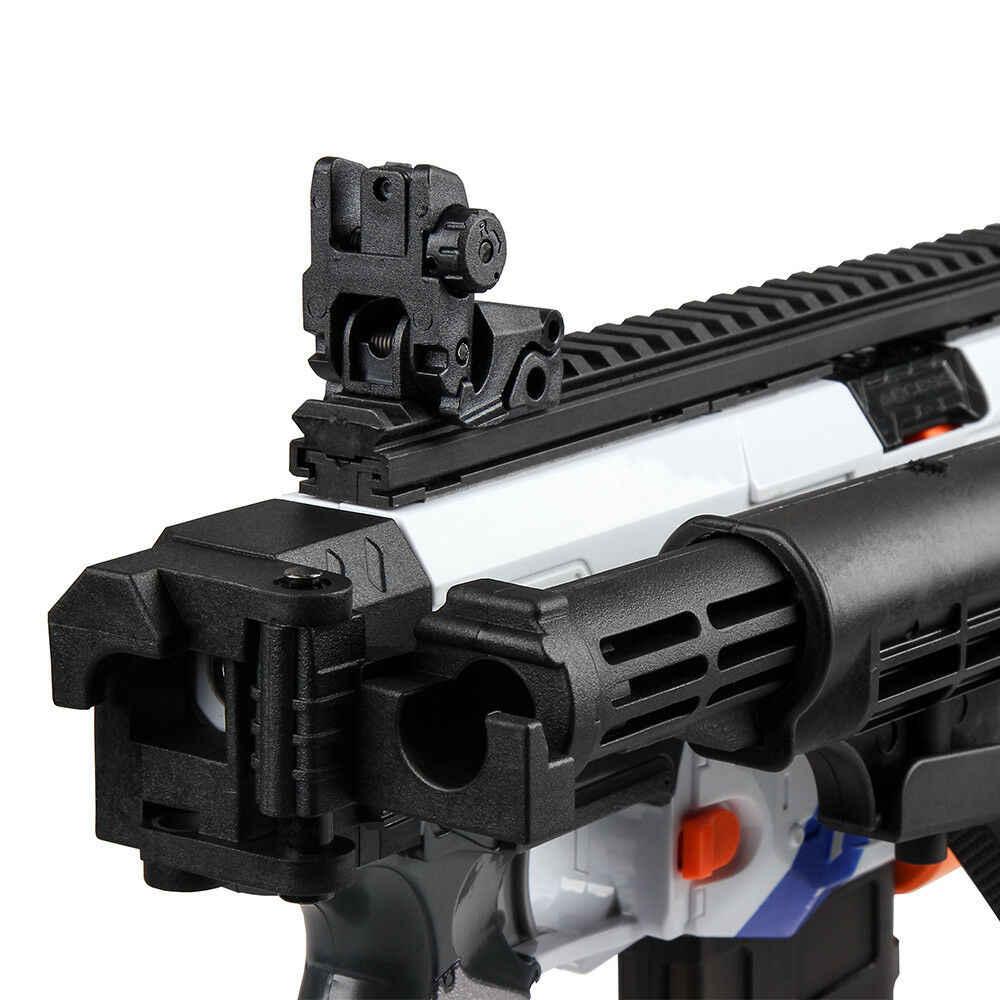 Werknemer Wijzigen Black Folding Voorraad voor Nerf N-Strike Elite Retaliator Blaster