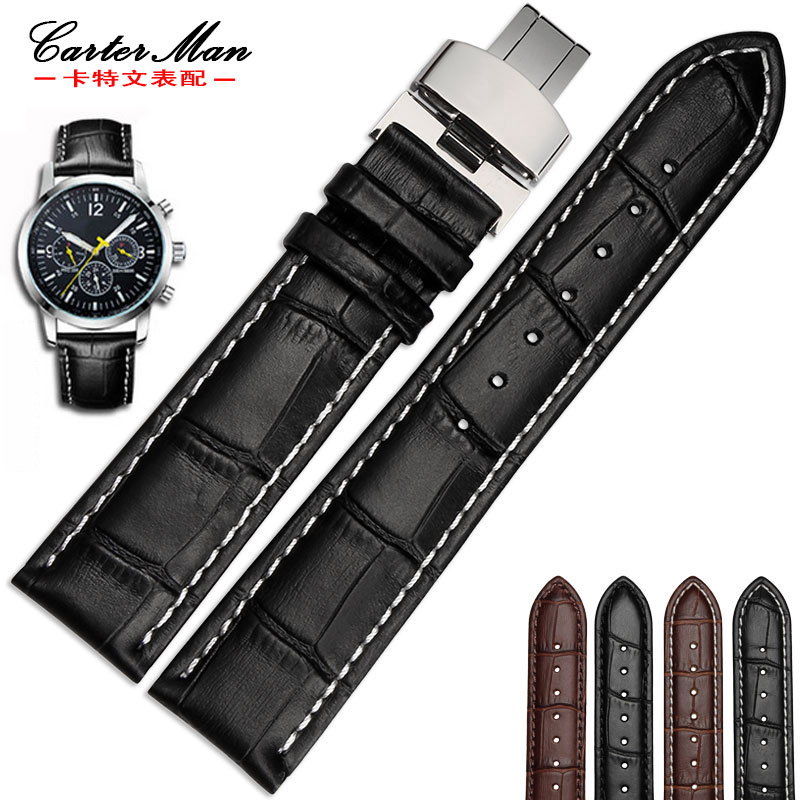 New High quality Genuine leather watchband 18mm 19mm 20mm 21mm 22mm leather strap for Tissot watch  with folding buckle
