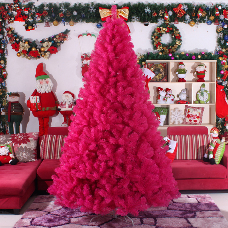 3.0m 4.0m Large Christmas Tree Factory Outlets Rose Red Color Christmas Tree Christmas Supplies