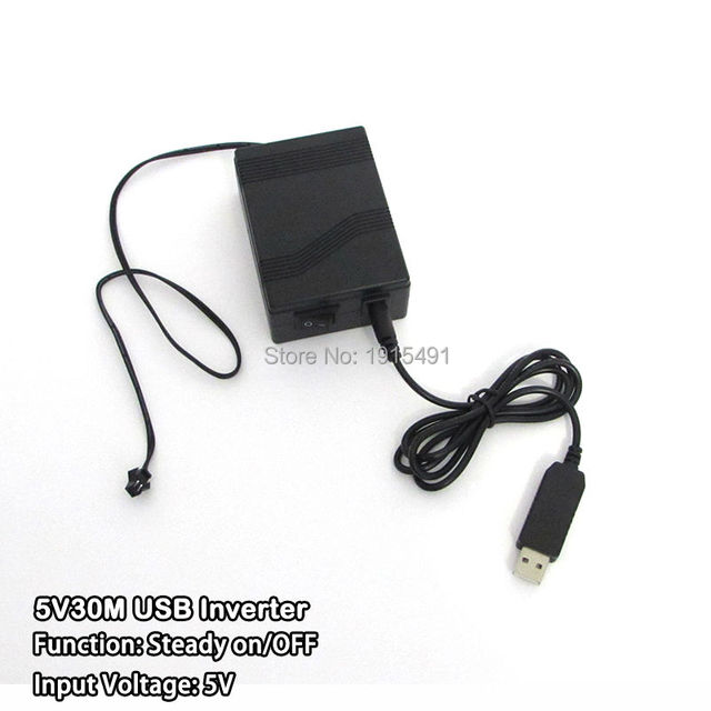NEW 5V 30M USB EL wire inverter powered by Computer or Mobile ...