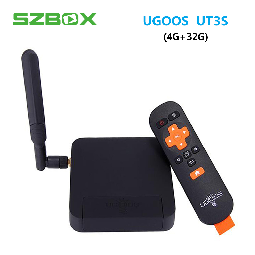 UGOOS UT3S Smart TV Box RK3288 Quad Core 4GB/32GB Smart Android TV Box 2.4GHz/5GHz WiFi Bluetooth4.0 4K Media Player Android 4.4 gpd q9 7 inch android 4 4 gamepad rk3288 quad core 1 8ghz