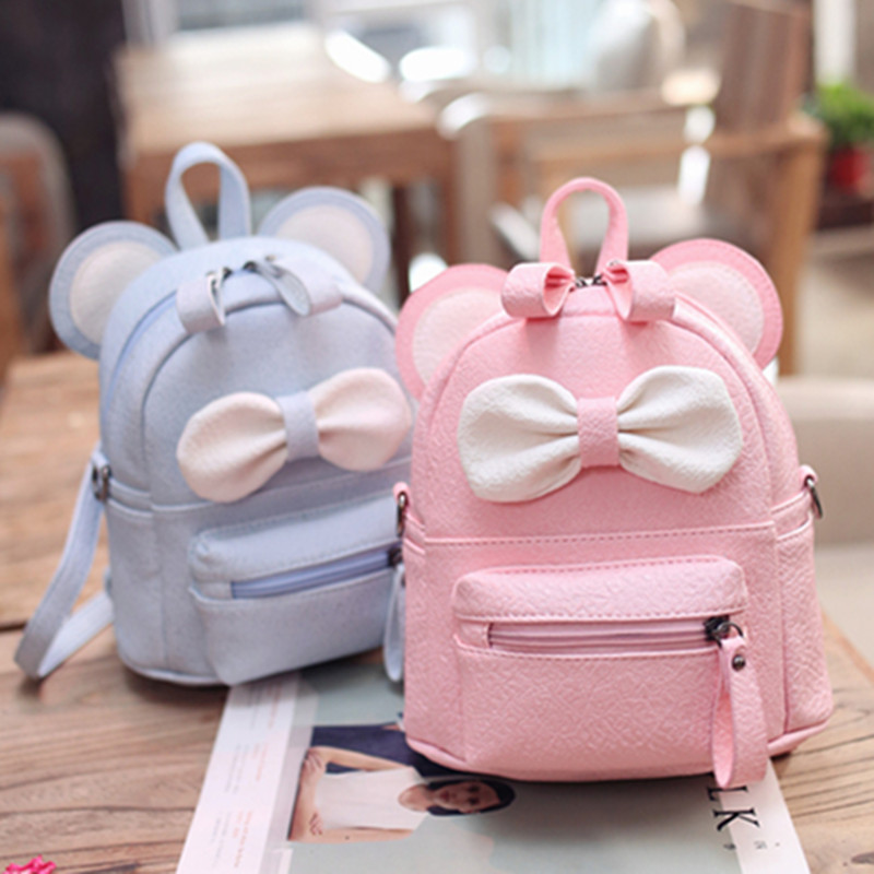 New girl shoulder bag Cartoon backpack dual-use small Diagonal School bag children cute bow small backpack mochilas escolares(China)