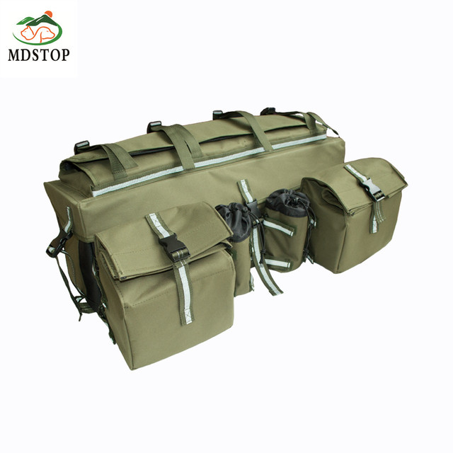 Atv Cargo Rear Rack Gear Bag Made Of 600d Waterproof Fabric With Topside Bungee Tie