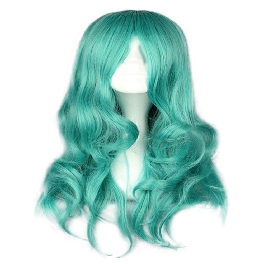 HAIRJOY Synthetic Hair Zipper 70cm Long Wavy Harajuku Lolita Cosplay Wig 18 Colors Available 4