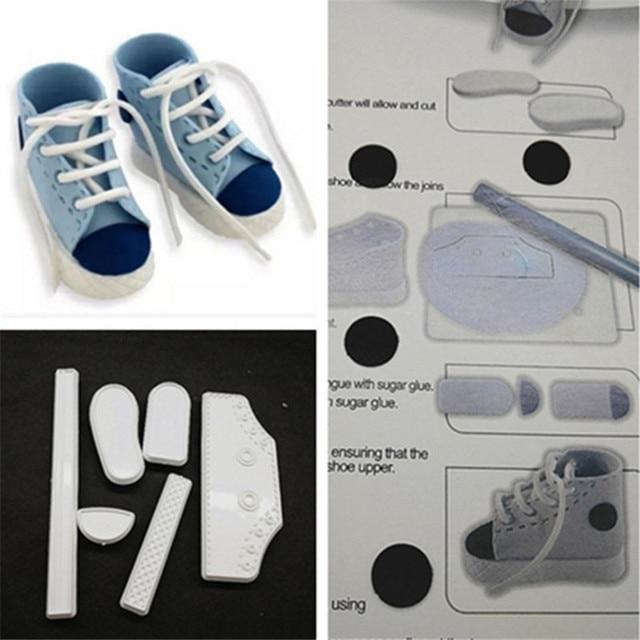 1 Set Baby Shoes DIY Cake Fondant Mold High Cut Sneaker Fondant Cake  Decorating Baking Tool Mould Cake Tools Accessories 678798 4055f820d82d