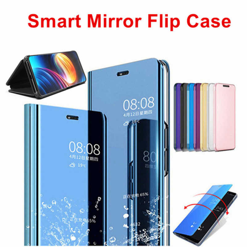 25d129bf1f7 ... For Samsung Galaxy A7 A9 2018 Luxury Touch Mirror Smart Flip Stand Case  Cover For J4 ...
