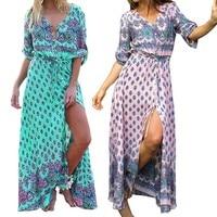 Oryginalny Dekolt Druku Rocznika Long Beach Dress Akcesoria Śmieszne Słodkie Wyjątkowo Gorąca Sprzedaż Akcesoria Faddish Ostatni Element Prezent