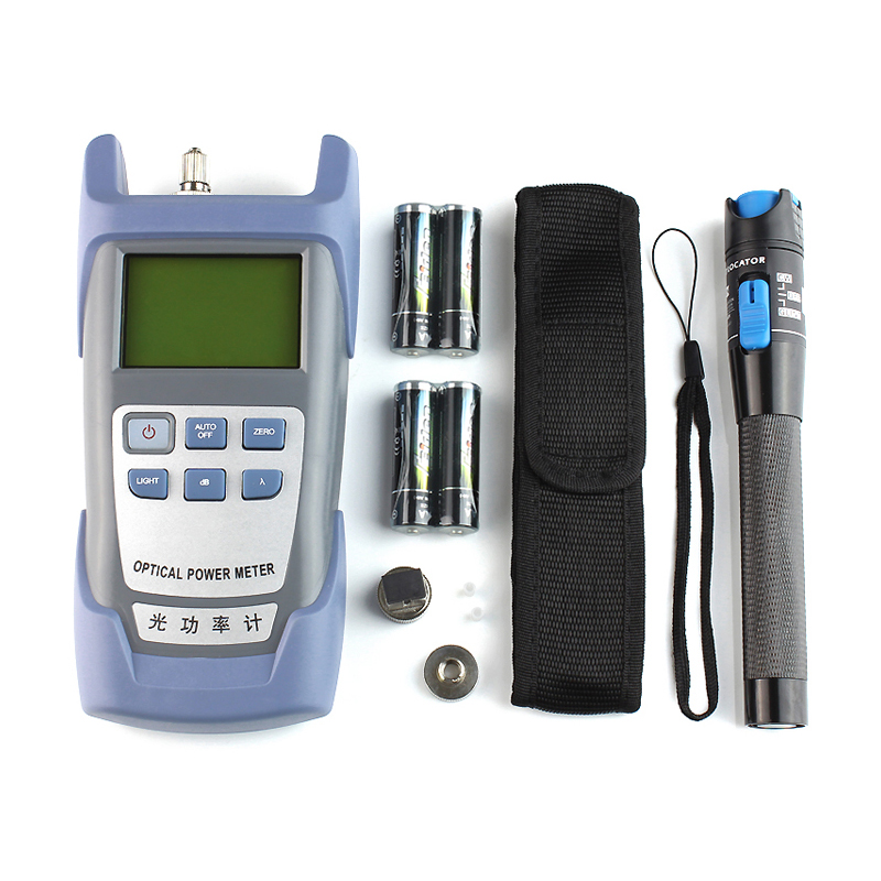 FTTH fiber Cold connection tool power meter visual fault locator fiber cleaver optical fiber tool kits free shipping