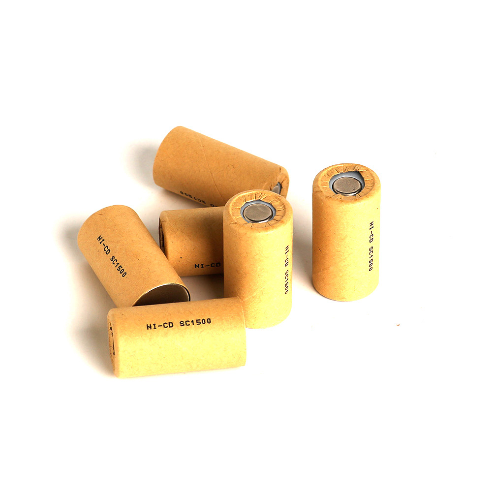 Ni-CD SC1500mAh 10pcs SC1.5Ah Power Cell,rechargeable battery cell,power tool battery cell, discharge rate 10C-15C