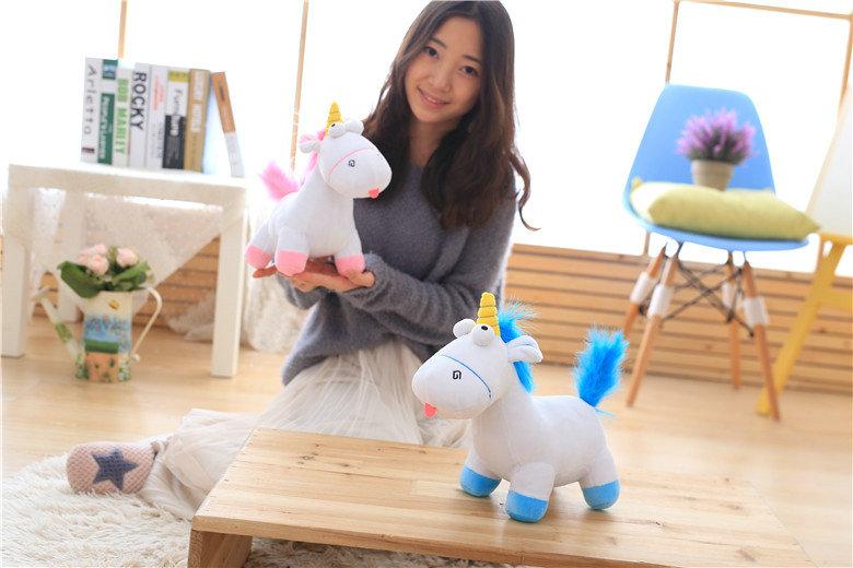 HTB1Lg5ASXXXXXa7XFXXq6xXFXXXK - Cute pink/blue stuffed PP Cotton Horse doll Christmas present kids doll baby plush toys 30cm Cartoon plush Unicorn toys VOTEE