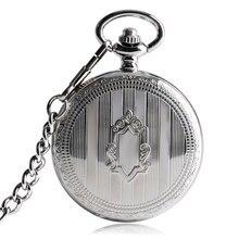 Ретро Серебряный щит с автоматическим заводом механические карманные часы антикварные часы щит кулон брелок цепь Подарки для мужчин и женщин