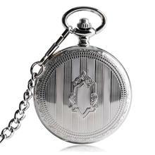 Ретро Серебряный Щит Автоматические Механические карманные часы