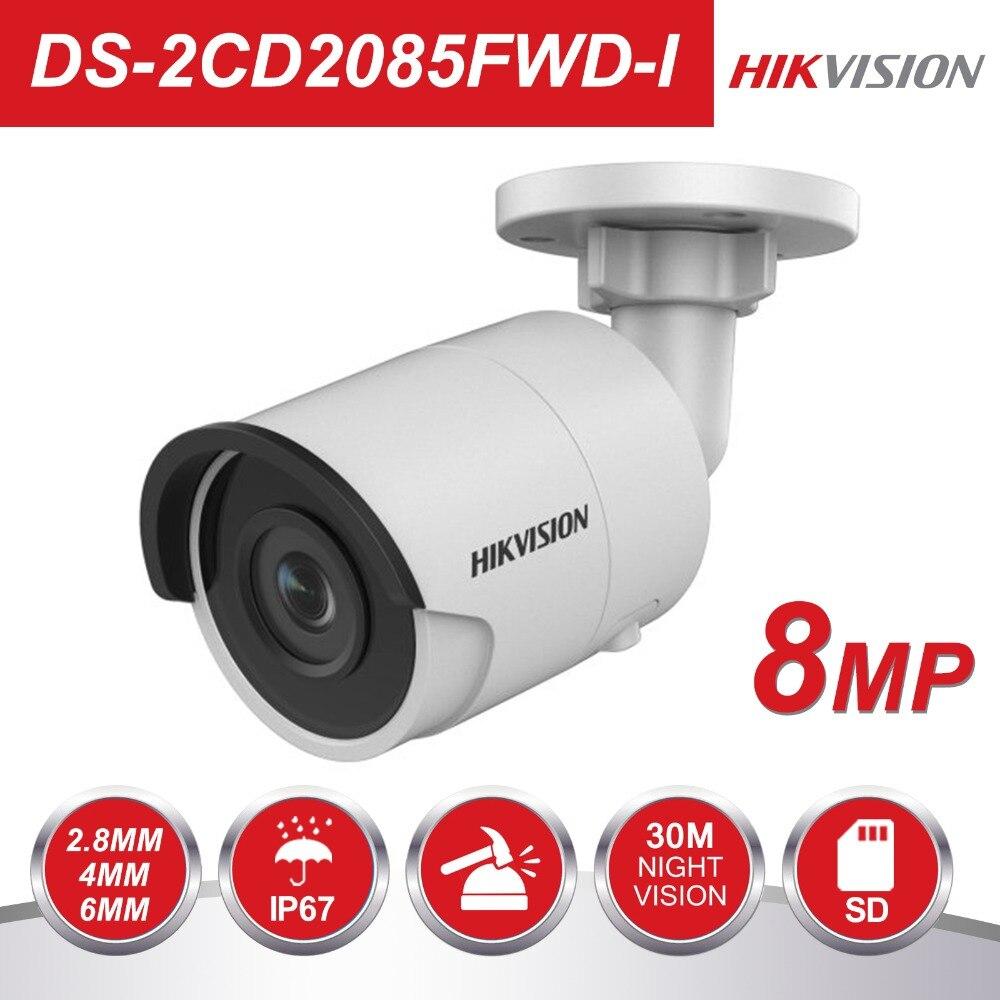 Hikvision 8MP CCTV камера обновляемый DS-2CD2085FWD-I IP камера высокое Resoultion WDR POE пуля безопасности с SD слот для карт памяти