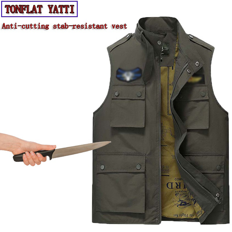 Novedades 2020 Self Defense Anti-cutting Stab-resistant Safety Function Covert Stab Police Protective Tactical Militar Vest