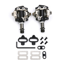 Bicycle SPD Pedal Pedales Bicicleta MTB Mountain Bike Pedals Self-Locking Clipless With Cleats Compatible For Shimano SPD shimano pd m520 bike pedals spd racing mountain mtb bicycle pedals pd m520 cleat flat self locking clipless parts