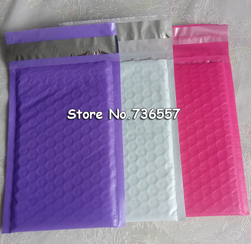 50pcs #000 Poly Bubble Mailers 4x7 Inch/115*180mm Bubble Envelopes Purple Bubble Lined Poly Mailer Pink White Black Bags