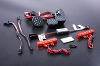 Front Light LED and CNC Metal Tail Lamp Set for 1/5 HPI KM Rovan Baja 5T Rc Car Parts