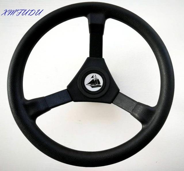 "Universal Replacement ABS 310mm 3 Spoke 3/4"" Boat Steering Plastic Wheel for Marine Rib Speedboat Pontoon Power Sail Boat Yacht 1"