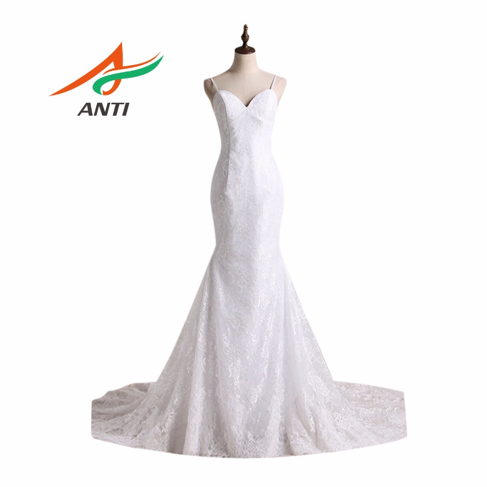 ANTI Vintage Mermaid Wedding Dress Off Bahu Jubah De Mariage Vestido - Gaun pengantin