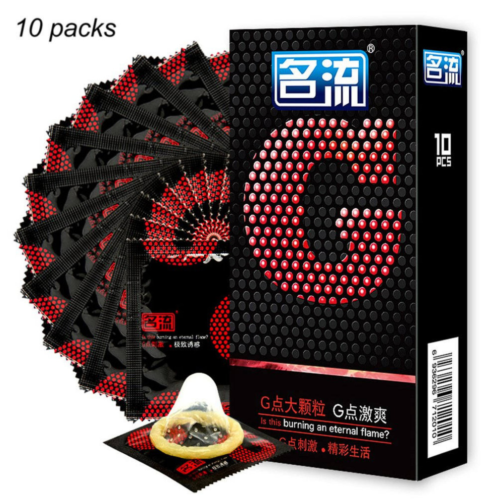 Mingliu 10 Pcs G spot Condoms Delay Ejaculation Condones Big Particle Stimulation G point Penis Sleeve Sex Toys in Condoms from Beauty Health