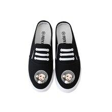 Summer Cartoon Print Kawaii RE: ZERO Rem Ram New Canvas Shoes Womens Casual Non-slip Slippers A193121
