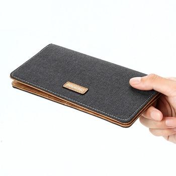Canvas Men Wallets Slim Thin Male Purse Long Men Wallet Vintage Denim Male Clutch Bag Card Holders Coins Purse cartera hombre wallet