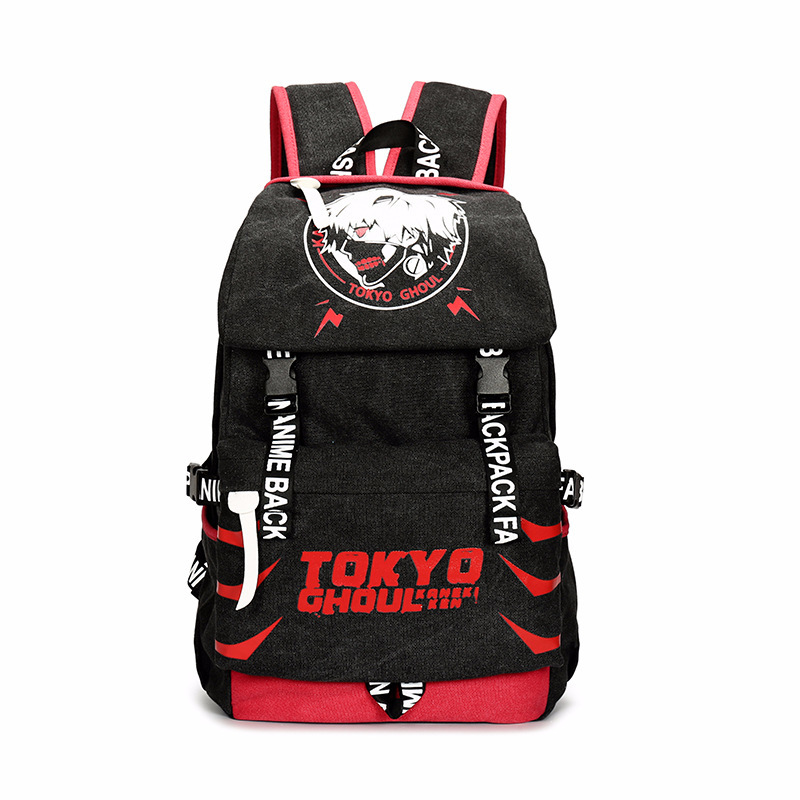 Anime Tokyo Ghoul Ken Kaneki Travelling Backpack Male/female Attack On Titan Gintama Sword Art Online School Travel Backpack anime tokyo ghoul cosplay anime shoulder bag male and female middle school student travel leisure backpack