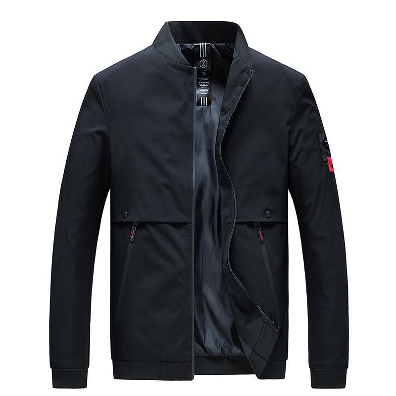 Woodvoice 2019 Mens Jackets Autumn Casual Coats Brand Bomber Jacket Male Solid Slim Fashion Outwear Men Jacket Jaqueta Masculina