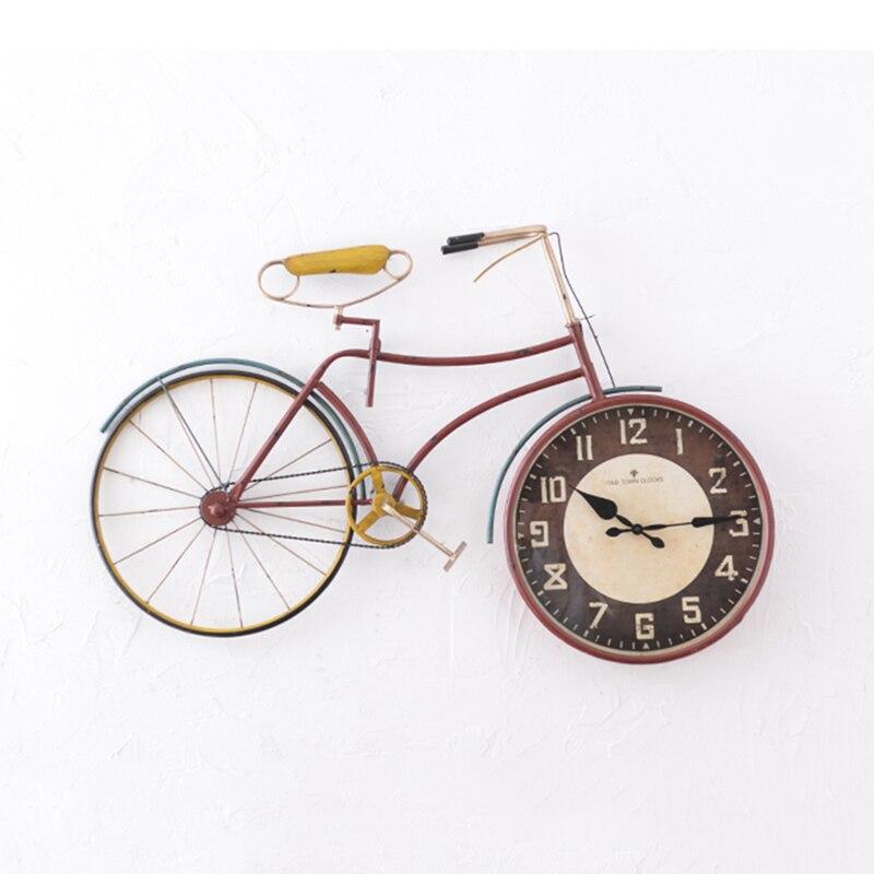 Rétro vélo créatif suspendu horloge murale salon décor pendentif Vintage montre ornements personnalité décoration de la maison accessoires