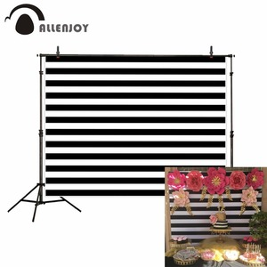 Image 1 - Allenjoy photography background black and white stripes simple birthday wedding backdrop wallpapers photo studio photocall