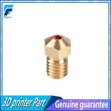 Ad alta Temperatura E3D Rubino Ugello V6 1.75 millimetri Ugelli 0.4 millimetri Compatibile PETG ABS PET PEEK NYLON Rubino Ugello Per PRUSA I3 MK3/LulzBot