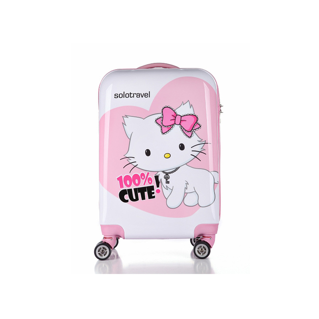 254161185f New! Hello Kitty Luggage Cartoon Travel Suitcase ABS+PC Universal Wheels  Trolley Luggage Travel
