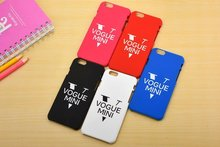 Nueva Cool Fashion Vogue mini PC caso arenoso de la rutina para iphone 6 6 s plus cubierta funda coque para iphone duro casos