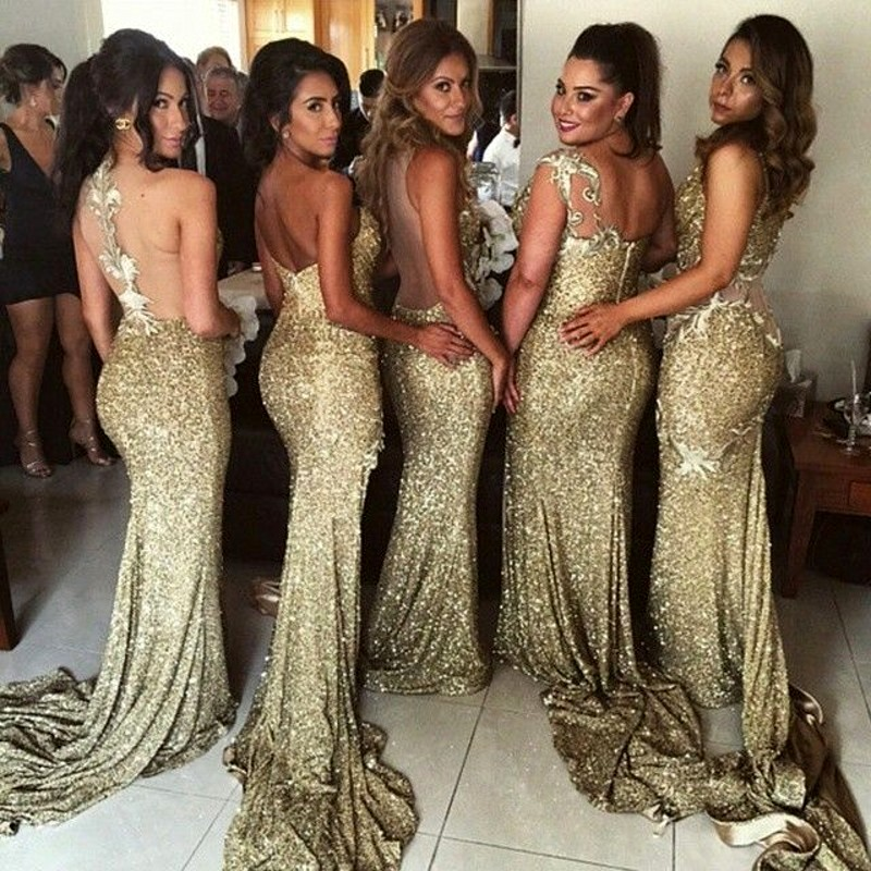 Compare Prices on Silver Gold Bridesmaid Dresses- Online Shopping ...
