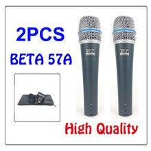 O envio gratuito de New Alta qualidade de Estúdio 57 BETA 57A Clear Sound Handheld Karaoke Wired Mic Microfone Profissional