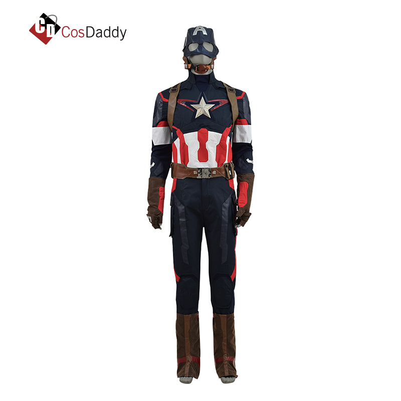 CosDaddy Captain America Cosplay Costume Without Mask Steve Rogers Halloween Superhero Men party Cosplay