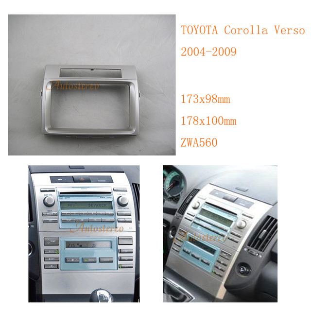 car radio fascia for toyota corolla verso 2004 2009 trim kit