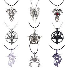 Moda Steampunk Inverted Pentagram Pan Dio Del Cranio Testa di Capra Collane con pendente Satanismo Satanico Occulto In Metallo FAI DA TE Della Collana Del Choker(China)